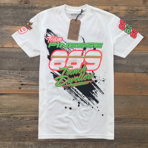 Poison Green Finesse Team Jersey White