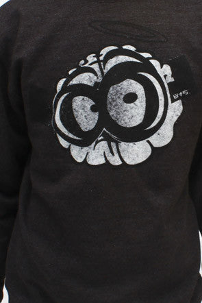 Dark Heather Brain Crewneck Sweatshirt - 2