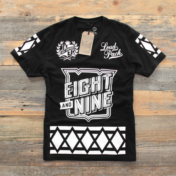 SmokeTree Hockey Jersey Tee Black