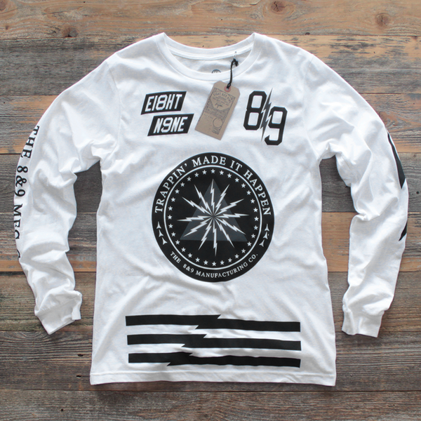 Trappin Jersey L/S White - 1