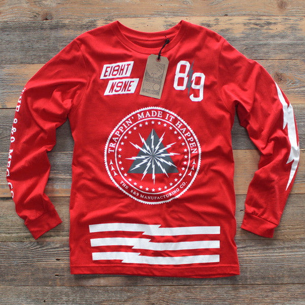 Trappin Jersey L/S Red - 1