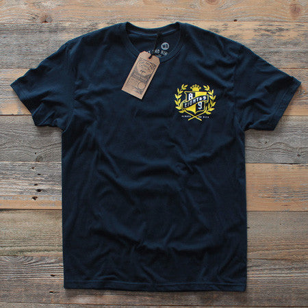 Roll Another Classic T Shirt Navy - 1