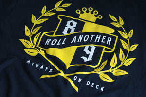 Roll Another Classic T Shirt Navy - 4