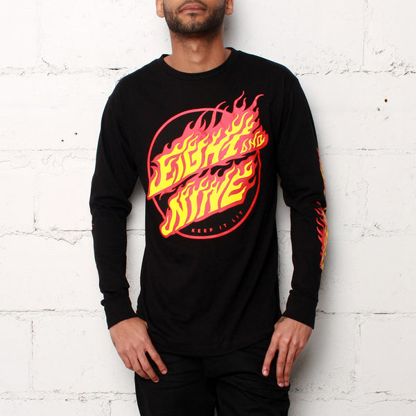 Cruz L/S T Shirt Black