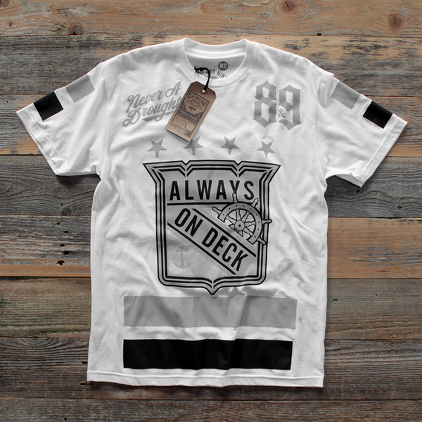 On Deck Jersey Tee Wolf Grey - 1