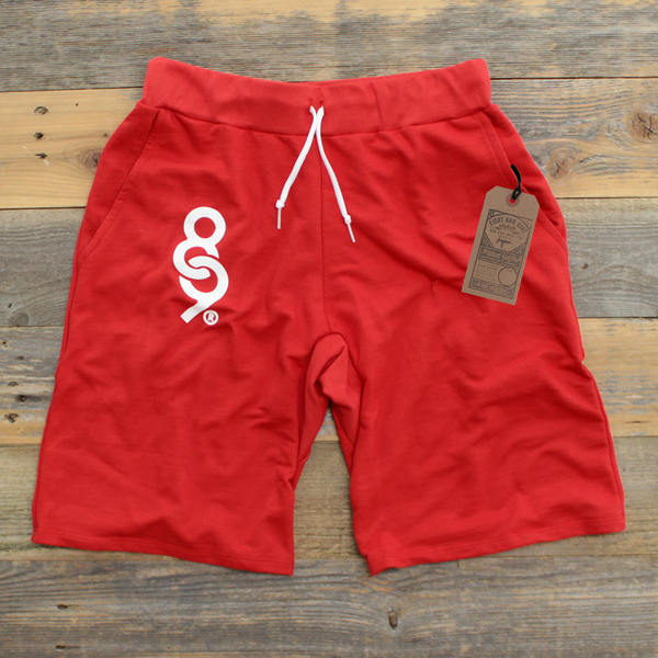 Keys French Terry Yard Shorts Fire Red