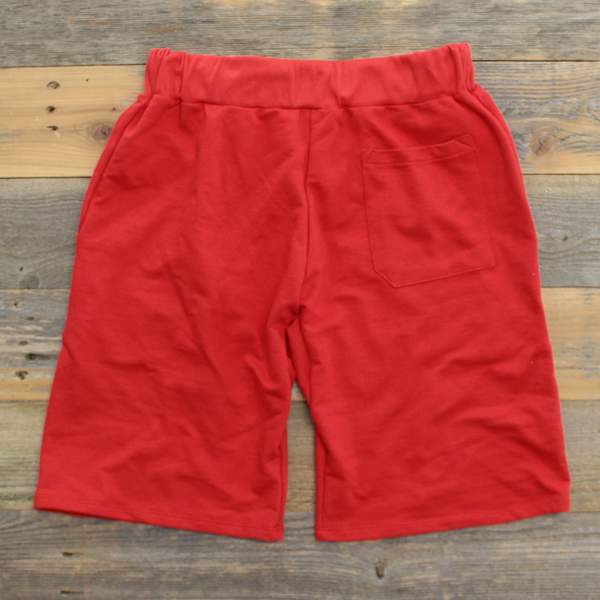 Keys French Terry Yard Shorts Fire Red - 2
