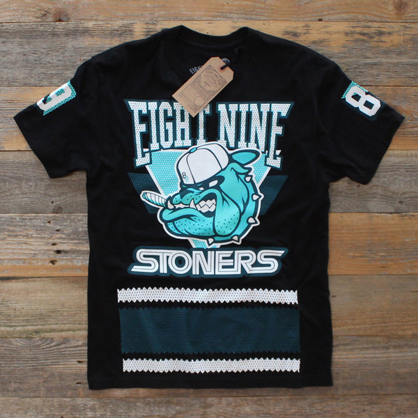 Bulldog Jersey T Shirt Teal - 1