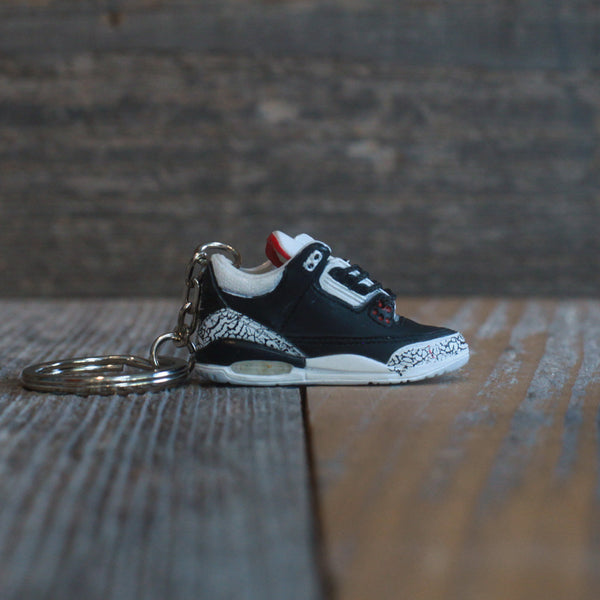 Air Jordan Black Cement 3 III Sneaker Keychain