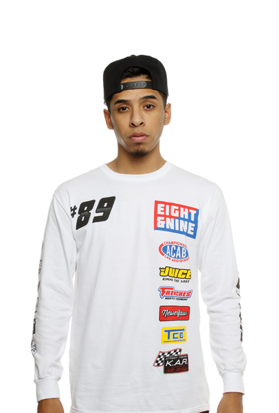 Drag Race Custom Jersey Tee White L/S - 3