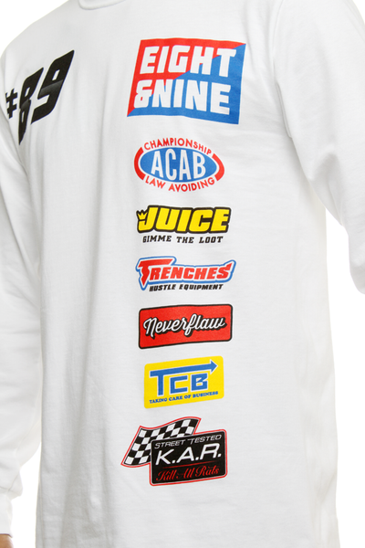 Drag Race Custom Jersey Tee White L/S - 5