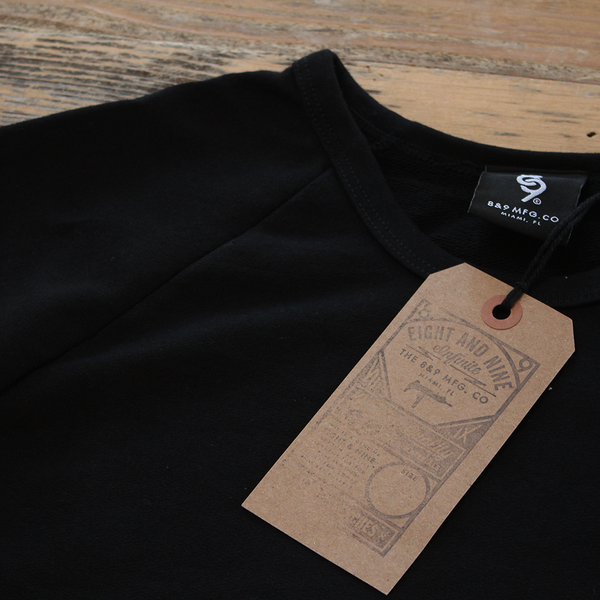 Drip Keys French Terry Raglan Black S/S - 3