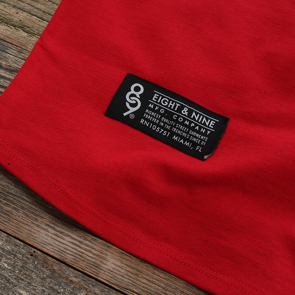 Drip Keys French Terry Raglan Red S/S - 2