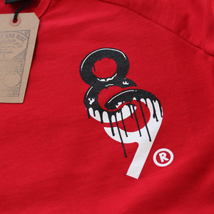 Drip Keys French Terry Raglan Red S/S - 3