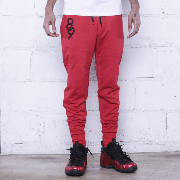 Keys Premium Terry Joggers Red