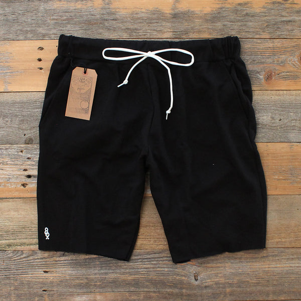 Mini Keys Cut Off Terry Shorts Black - 1