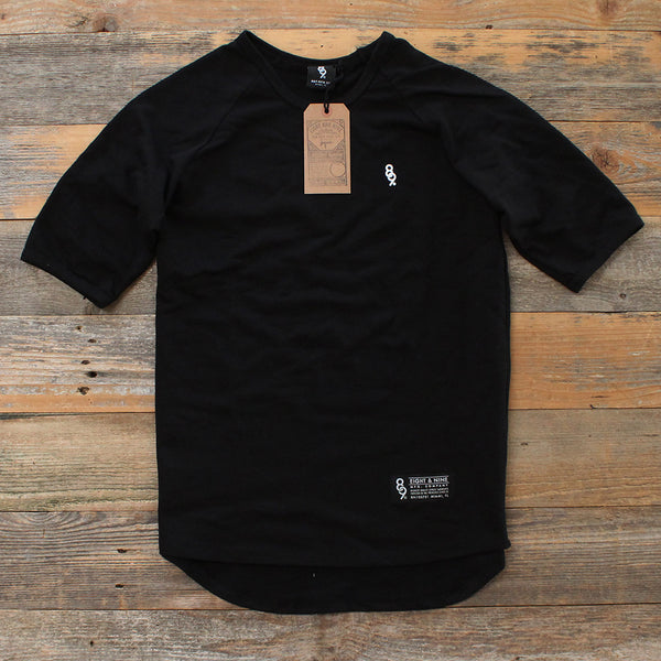 Mini Keys Premium Terry Raglan S/S Black