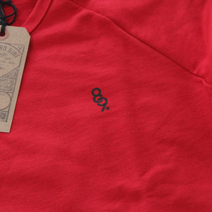Mini Keys Premium Terry Raglan S/S Red - 2