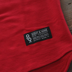Mini Keys Premium Terry Raglan S/S Red - 3
