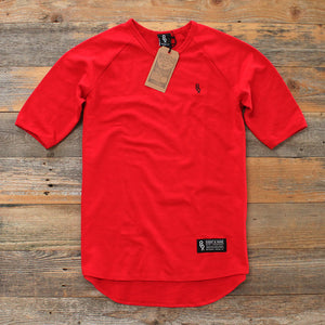 Mini Keys Premium Terry Raglan S/S Red - 1