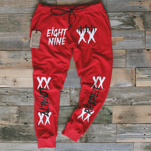 Lobby Runnin French Terry Yard Sweats Fire Red - 1