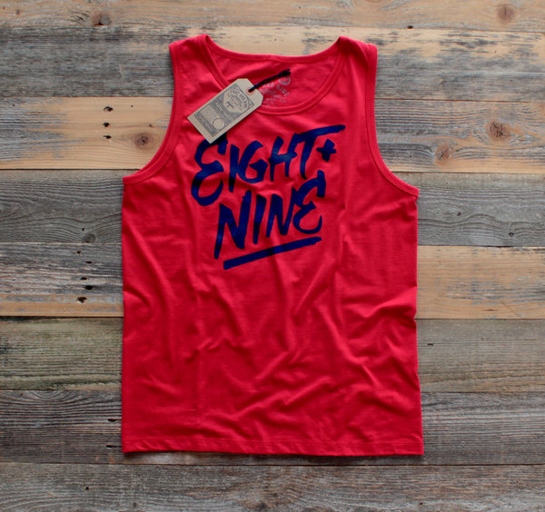 Hand Style Tank Top Red - 1