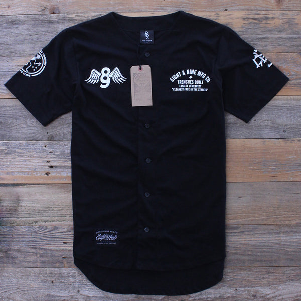 Kustom Life Black Cotton Baseball Jersey - 1