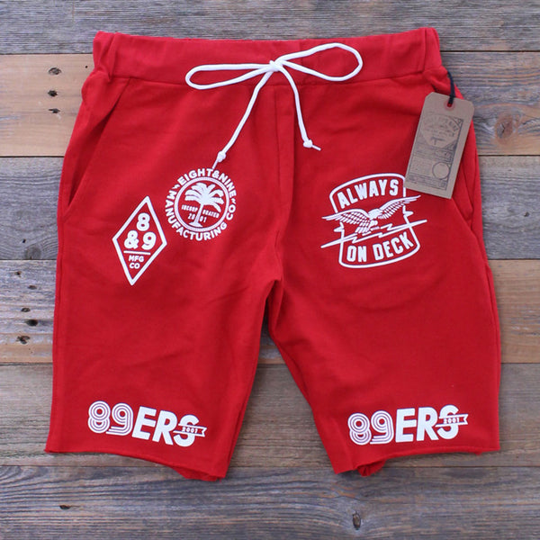 Kustom Life French Terry Shorts Red - 3