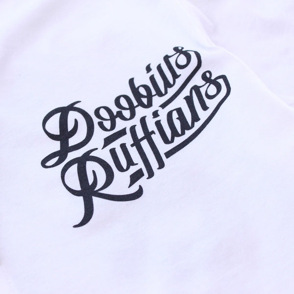 Doobious Ruffians White Cotton Baseball Jersey - 3