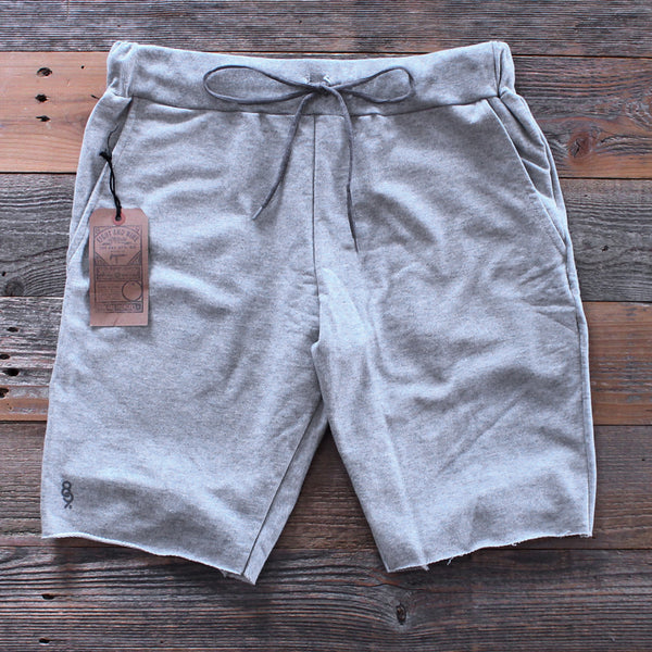 Mini Keys Cut Off Terry Shorts Grey - 1