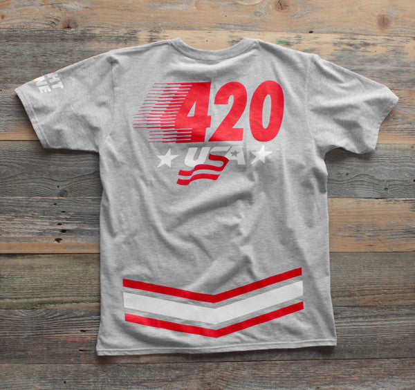 420 USA T Shirt Heather - 2