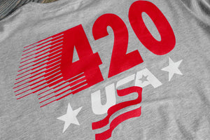 420 USA T Shirt Heather - 4