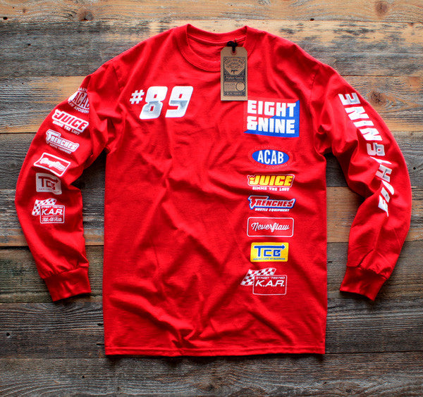 Drag Race Custom Jersey Tee Red L/S - 1