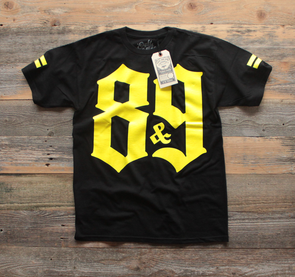 Crime Pays Jersey Tee Yellow - 1