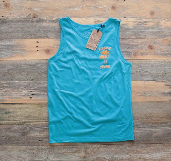 OE Palm Trees Tank Top Turquise - 1