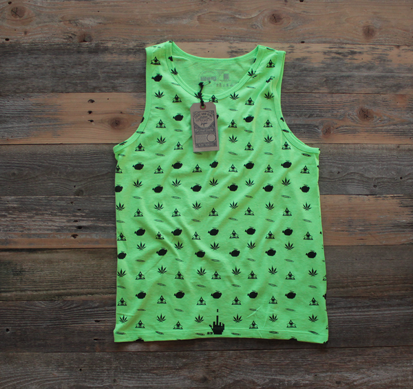 Neon Green Galaga Tank Top