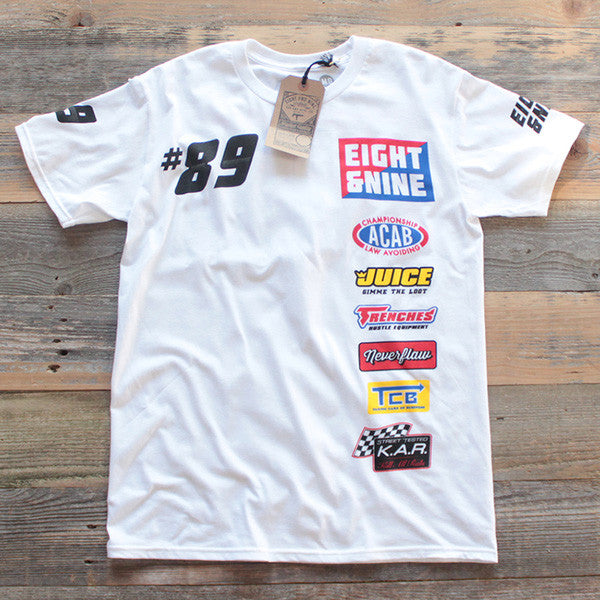 Drag Race Custom Jersey Tee White - 1