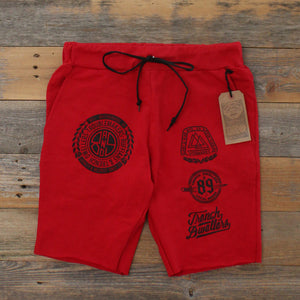 Visionaries Terry Cut Off Shorts Fire Red - 1