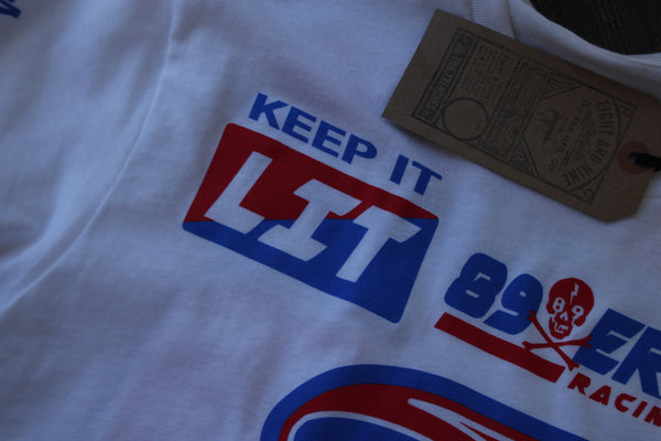 Keep It Lit Jersey Tee White - 4