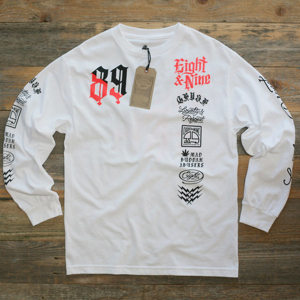 Club Life Jersey Tee White Infrared L/S