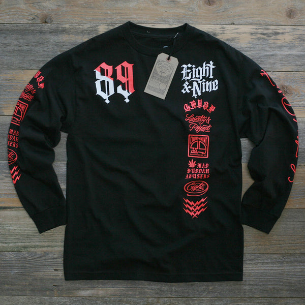 Club Life Jersey Tee Black Infrared L/S