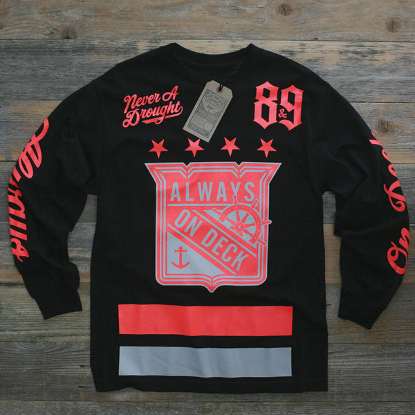 On Deck Jersey Tee Infrared L/S