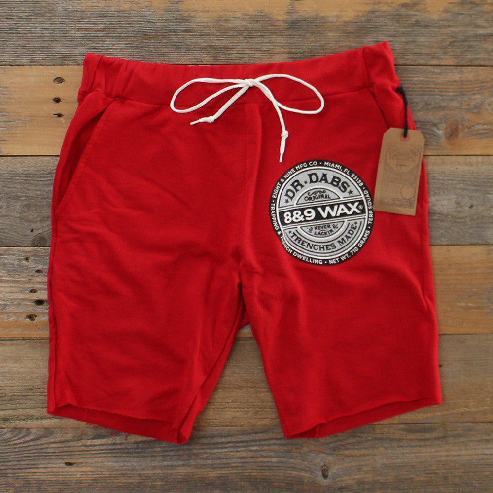 Dr. Dabs Terry Shorts Red - 2
