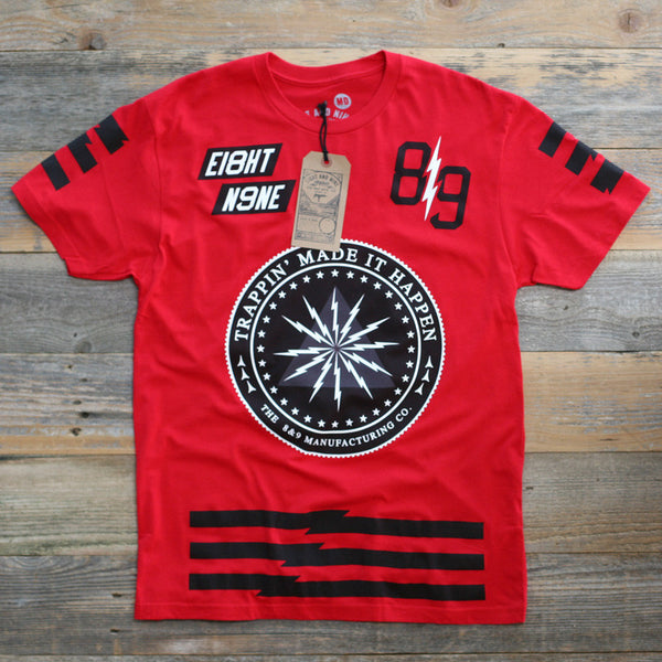 Trappin Jersey Tee Fire Red - 1