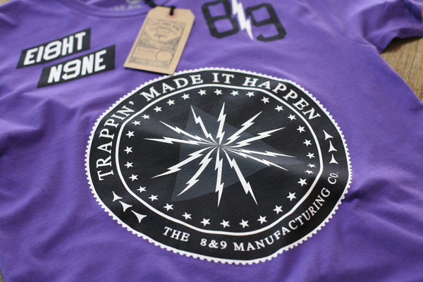 Trappin Jersey Tee Purple - 3