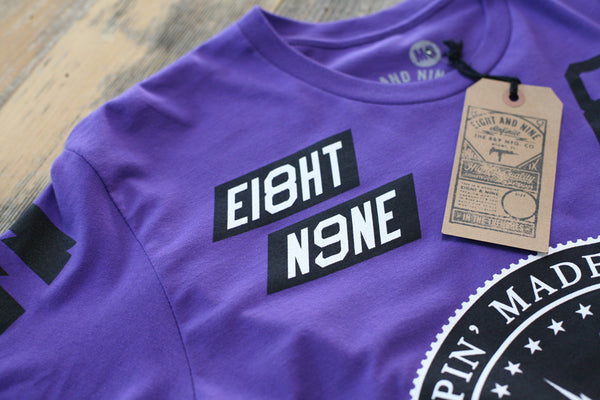 Trappin Jersey Tee Purple - 4