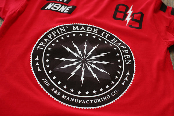 Trappin Jersey Tee Fire Red - 3