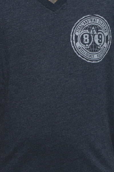 Intel Squad Georgetown Blue V Neck Tee - 3