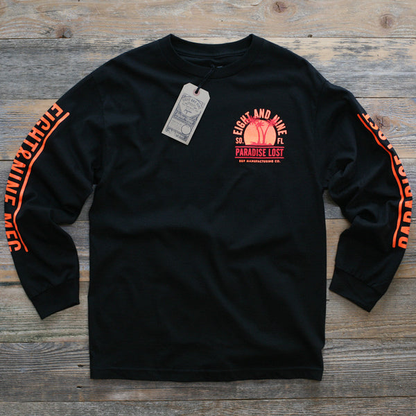Paradise Lost Tee Sunset Black L/S - 1