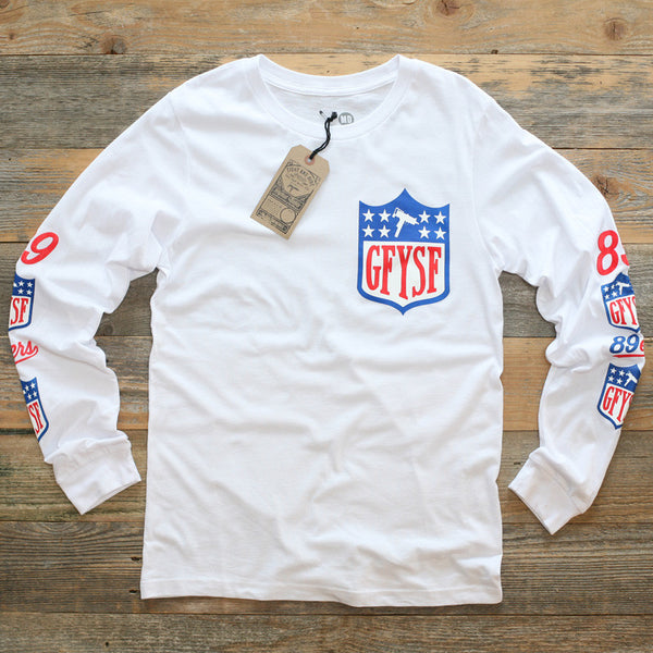 GFYSF League Jersey Tee White L/S